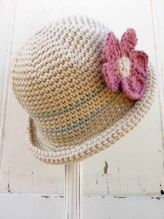 Crochet Hat Pattern Rolled Brim Hat Crochet Pattern No.119