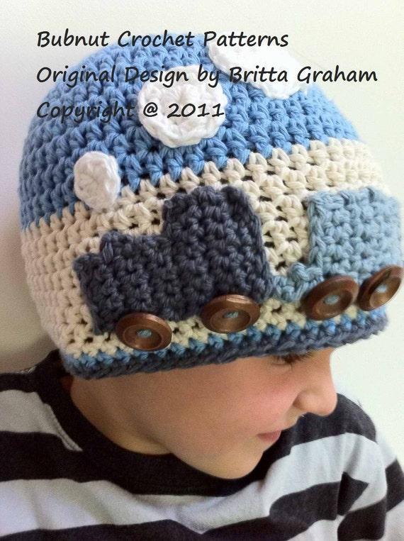 Easy Peasy Crochet Hat Patterns : Crochet Hat Pattern - Easy Peasy Train Hat Crochet Pattern ...