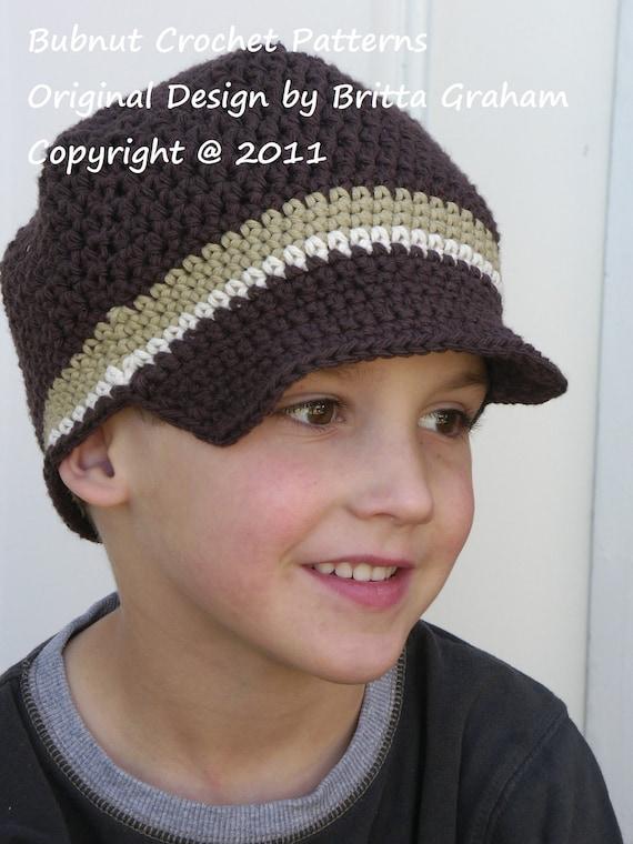 Childrens Newsboy Hat Crochet Pattern