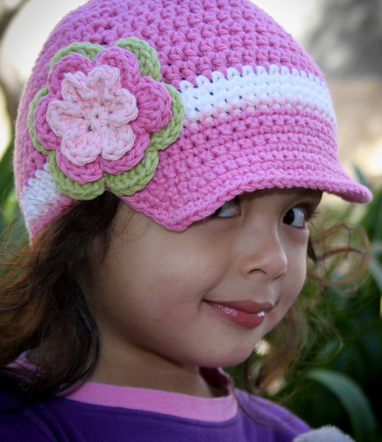 Crochet Hat Pattern Easy Peasy Newsboy Unisex Cap Crochet