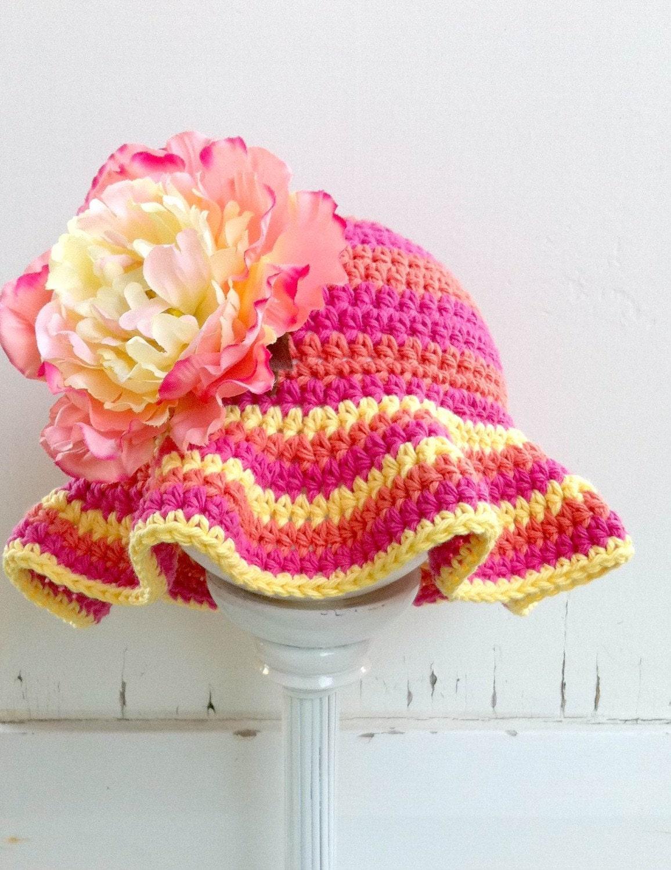 Crochet Pattern Sun Hat : Tutti Frutti Floppy Crochet Sun Hat Pattern Crochet Pattern