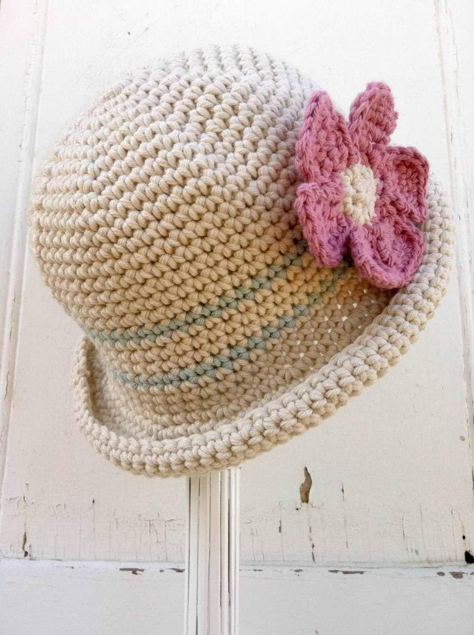 Free Crochet Pattern For Baby Floppy Hats : Crochet Hat Pattern Rolled Brim Hat Crochet Pattern No.119