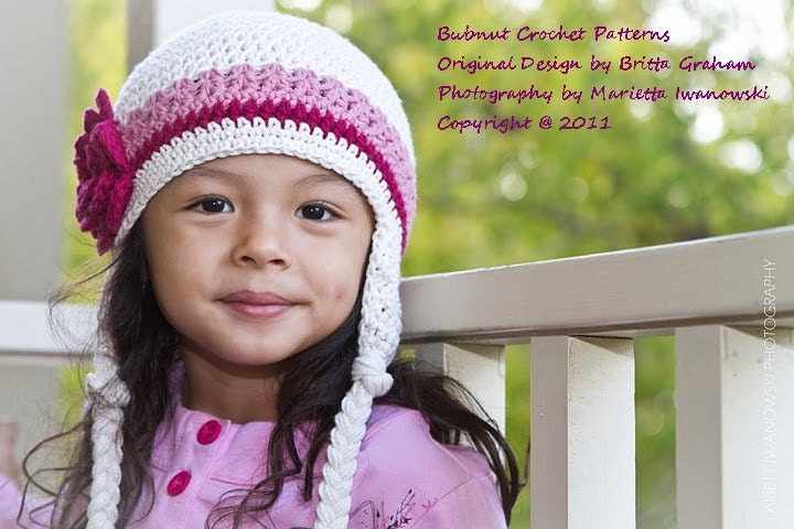 Crochet Earflap Hat : Crochet Hat Pattern Easy Peasy Earflap Hat by bubnutPatterns