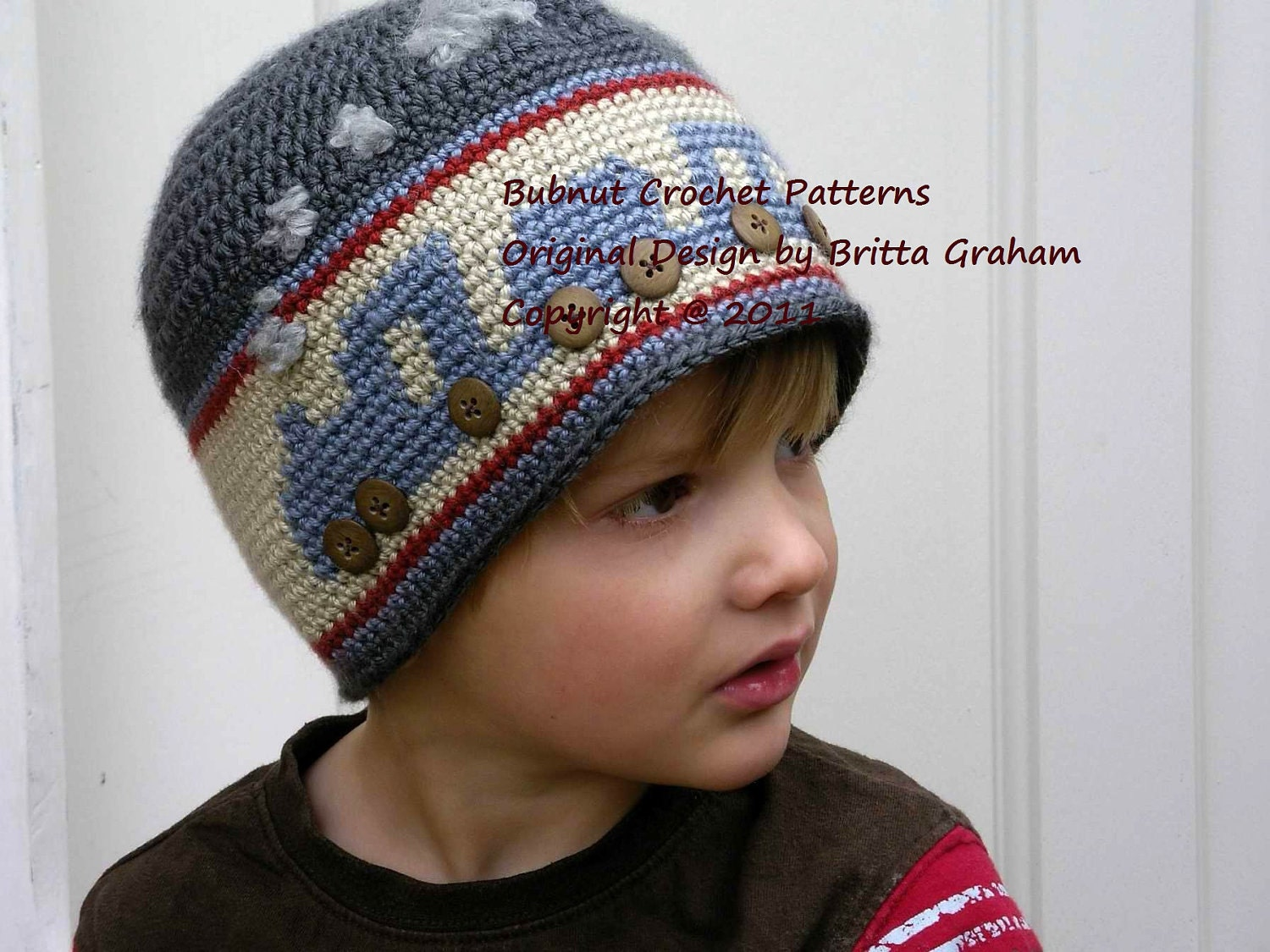 Free Crochet Hat Pattern For Thomas The Train : Boys Choo Choo Train Hat Crochet Pattern No.402 by ...