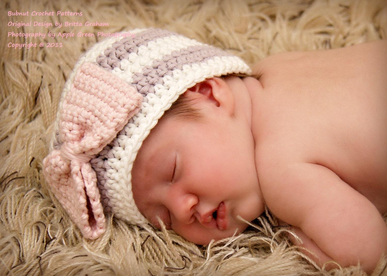Baby crochet hat pattern crochet pattern no111 newborn baby zoom bankloansurffo Gallery