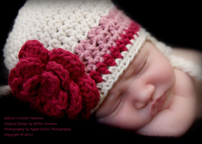 Easy Crochet Newborn Hat Patterns : Crochet Baby Hat Pattern Easy Peasy Earflap Hat by ...