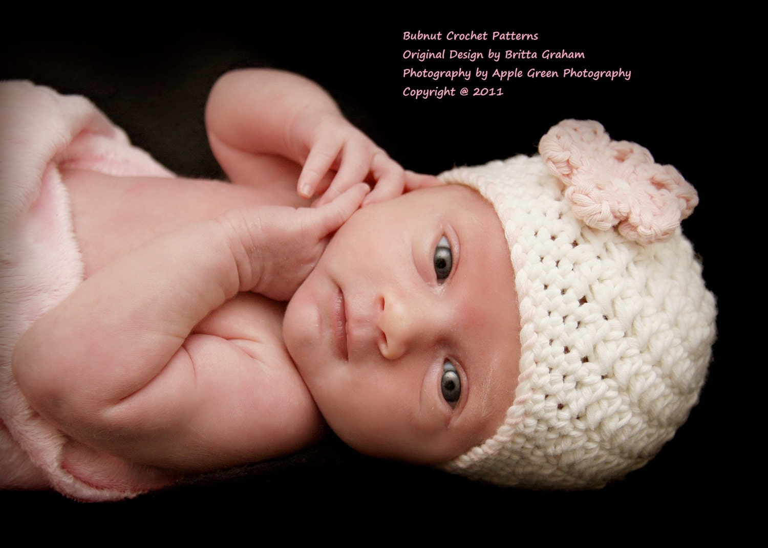Crochet Pattern Newborn Girl Hat : Crochet Baby Hat Pattern Unisex Bumpy Baby Hat by ...