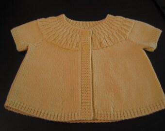Yellow/gold bolero style cardigan