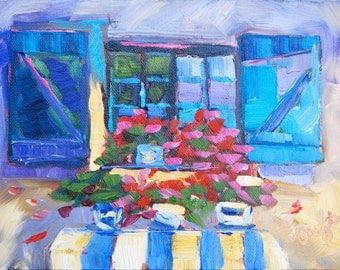 Fine Art by Rebecca Croft Impressionist Palette Knife Original Oil Painting Provence France