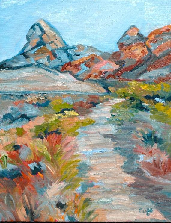 Fine Art Original Oil Painting Impressionist Impasto Landscape Sedona Arizona Rebecca Croft
