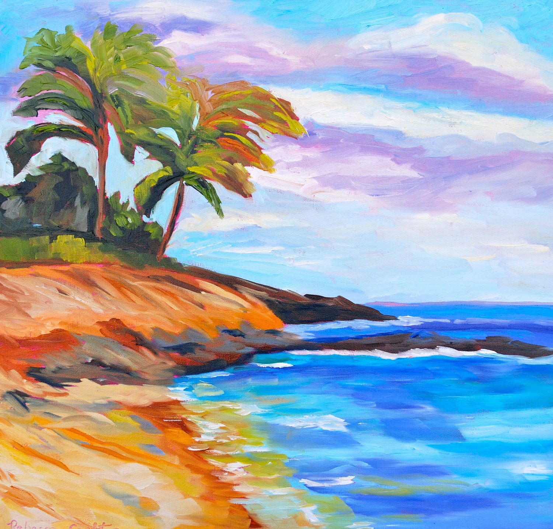 Painting: Original Oil Painting Fine Art Impressionist Hawaiian Beach