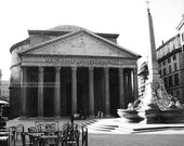 Pantheon Rome Italy black and white photograph