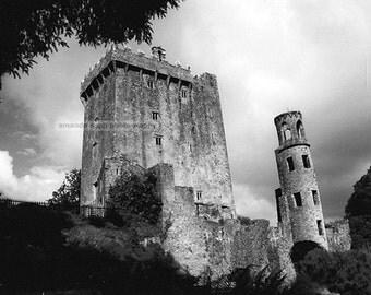 Blarney Castle Ireland black and white photography
