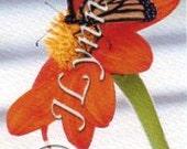 Monarch Butterfly on Orange Flower Photo Magnet
