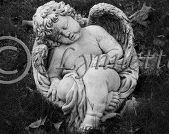 Black and White Angel Photo Magnet