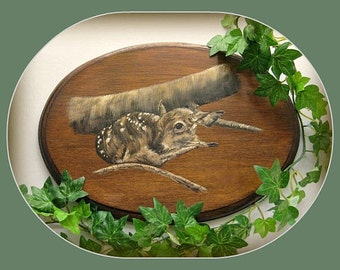 Deer Painting Deer Art Fawn Art Baby Deer Art Doe Art Bambi Art Fawn Painting Animal Painting Wildlife Painting Woodland Animal Art Gift Him