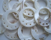 Shell pendant drop with 5 holes - pkg of 4