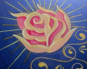 Pink rose original painting