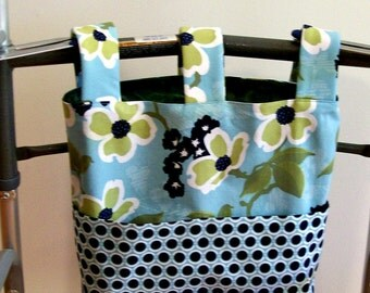 Walker Bag Tote in Joel Dewberry Modern Meadow Dog Wood Bloom Pond