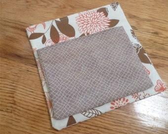 Reusable  Snack Sandwich Bag  Set Modern Bird Print