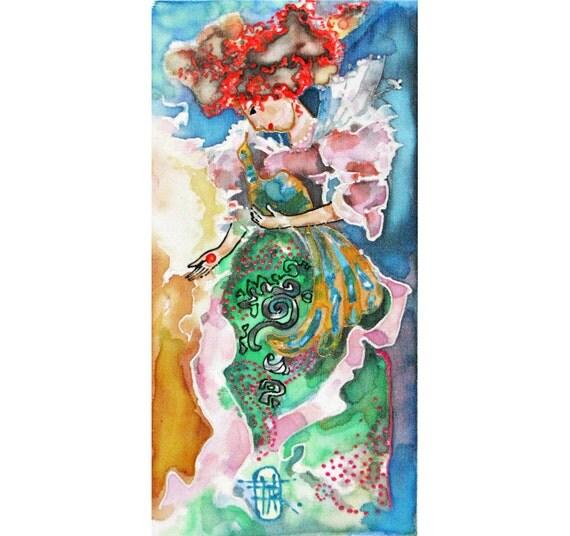 Pastel silk painting Home spirit series Lady Charm