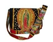 Guadalupe Virgin Mary Mexican Art Messenger Bag / Diaper bag