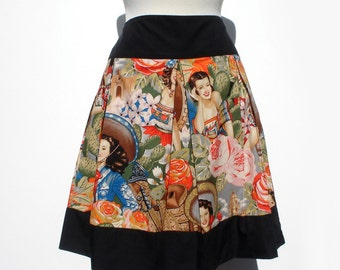 Day of the Dead Rockabilly Mexican Skirt  / Pinup Skirt