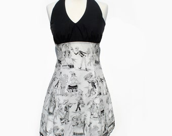 Rockabilly Black and White  Dress / Day of the Dead /  Dia De Los Muertos