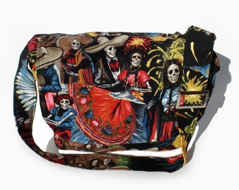 ON SALE!!!!!San Marcos  Day of The Dead  Messenger Bag