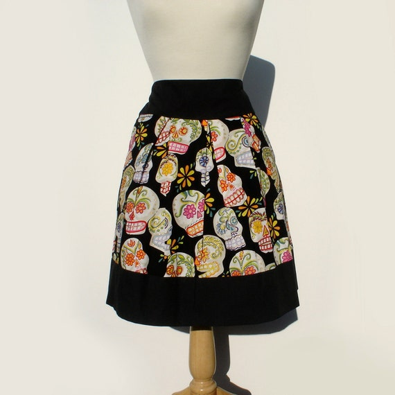 Sugar Skull Day of the Dead Skirt
