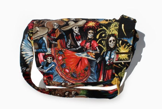 San Marcos  Day of The Dead  Messenger Bag