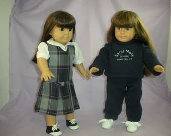 American Girl Doll School Uniform - Custom Made