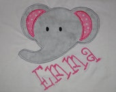 Monogrammed Personalized Appliqued Boutique Elephant Shirt