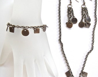 Necklace, earrings, and bracelet set 19
