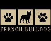 French Bulldog Silhouette T-Shirt Tee - Men's, Ladies Women's, Short, Long Sleeve, Kids Youth - frenchie