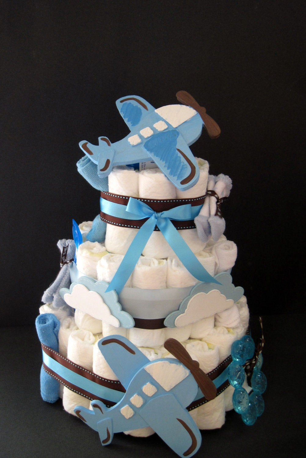 Airplane Diaper Cake