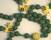Green Bee Rosary