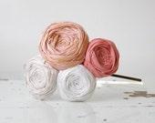 Cottage Pinks Silk Rosette Headband