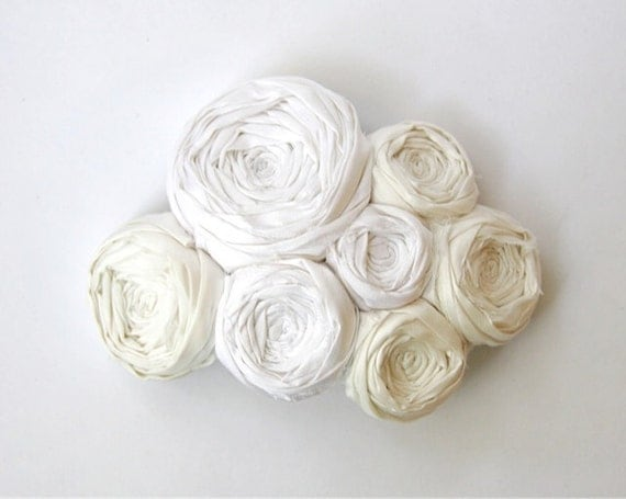 Romantic Rosette Bridal Wedding Bride Hair Clip Wedding Light Ivory Silk Rosette Couture Flowers Fascinator Bridal Accessory hair piece