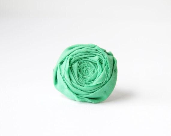 SALE Rosette Ring Green Clover Summer Rosette Flower Ring Woodland Green Rosette Ring