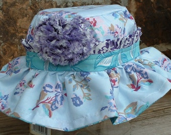 Sally Sells Sea Shells by the Sea Shore Sun Hat, Izzy & Ivy Design, Size Small