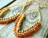 Me and Mia Mandarin Garnet Gemstone Earrings