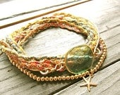 I Could be Dreaming Multi Strand Bohemian Bracelet with Variegated Hand Dyed Thread