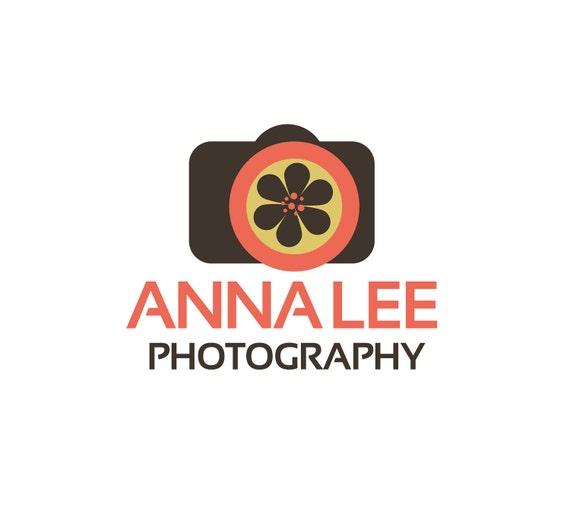 Photography Logo Design - Camera Sunflower Daisy Flower Photography Logo By ReaniDesigns on Etsy