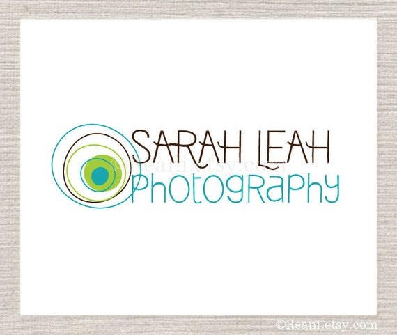 Photography Logo Design - Custom Premade Lens Circles By ReaniDesigns on Etsy