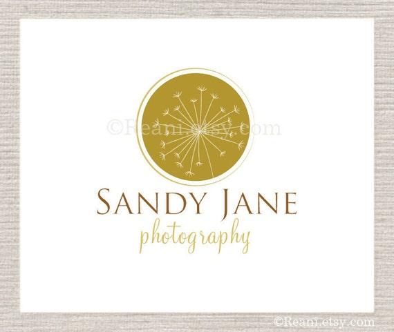 Custom Premade Logo - Dandelion Motif By ReaniDesigns on Etsy