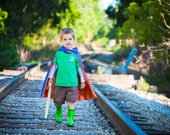 Super Hero Cape Blank For BOYS  REVERSIBLE  double sided Made to order