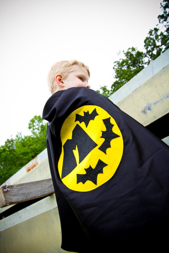 Custom Birthday Superhero Cape Personalized Letter bat , 2T - 7T, costume, multiple colors unique gift quick ship