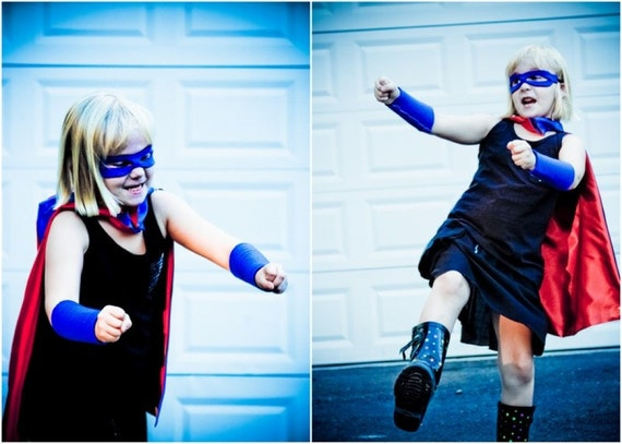 Superhero Armband accessory Blue , 2T - 7T, super stretch,  power cuff fast delivery