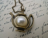 Time For Tea Necklace-Alice In Wonderland